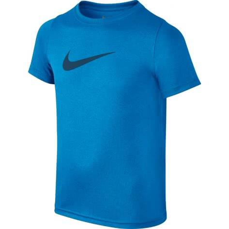 Nike Jungen Trainingsshirt Dry Tee SS Swoosh Solid 819838 Equator Blue Blue Force Größe 128 140