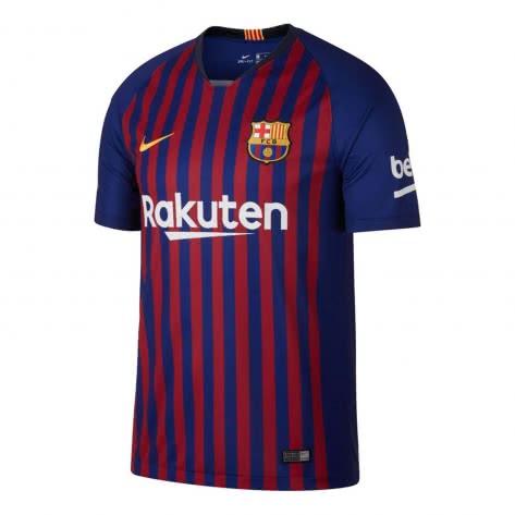 Nike Herren FC Barcelona Home Trikot 2018/2019 894430-456 S Deep Royal Blue/University Gold | S