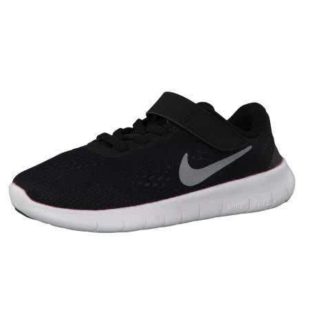 Nike Kinder Laufschuhe Free RN (PSV) 833991 Black Metallic Silver Anthrct Größe 28.5,31