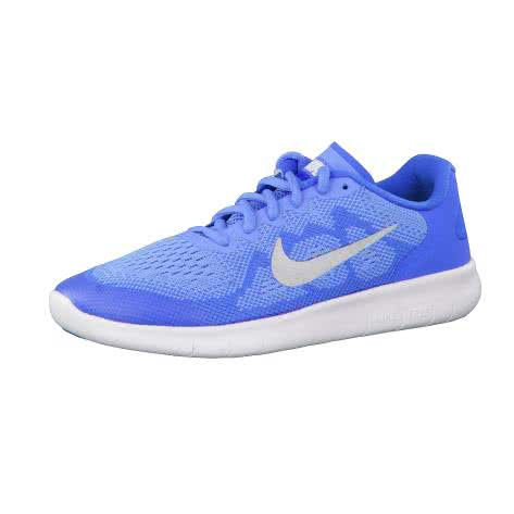 Nike Mädchen Laufschuhe Free RN 2 (GS) 904258 University Blue Metallic Silver Größe 35.5,36,36.5