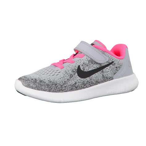 Nike Mädchen Laufschuhe Free RN 2 (PSV) 904260 Wolf Grey Black Racer Pink White Größe 35