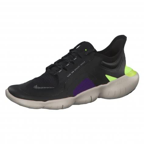 Nike Damen Laufschuhe Free RN 5.0 Shield BV1224-001 38 Black/Metallic Silver-Voltage Purple | 38