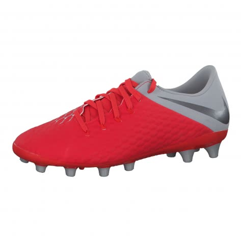 Nike Herren Fussballschuhe Hypervenom Phantom III Academy AG-Pro AJ6710-600 40.5 Lt Crmsn/Mtlc Dk Gry-Wlf Gry | 40.5