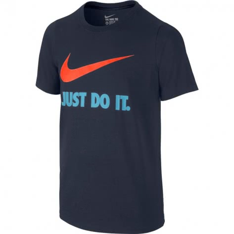 Nike Jungen T-Shirt JDI Swoosh 709952 Obsidian Hyper Crimson Größe 122 128,128 137