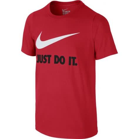 Nike Jungen T-Shirt JDI Swoosh 709952 University Red White Größe 137 147