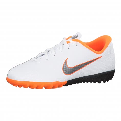 Nike Kinder Fussballschuhe Jr Mercurial VaporX XII Academy TF AH7342-107 36 White/Total Orange/Cool Grey | 36