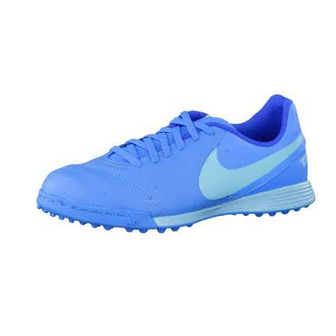 Nike Kinder Fussballschuhe Jr TiempoX Legend VI TF 819191-444 38 Blue Glow/Polarized Blue-Soar | 38
