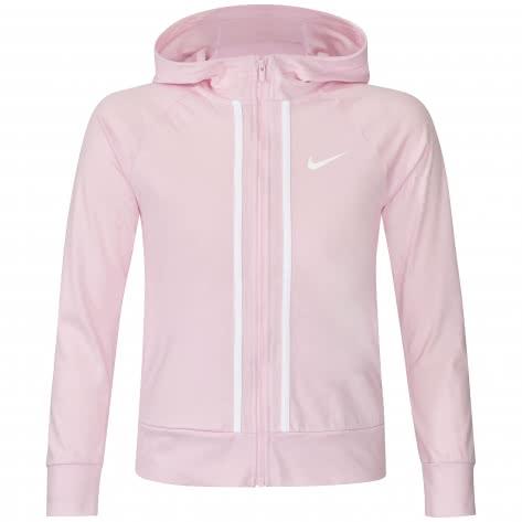 Nike Mädchen Sweatjacke fz jersey AQ9051-663 128-137 PINK FOAM /WHITE | 128-137