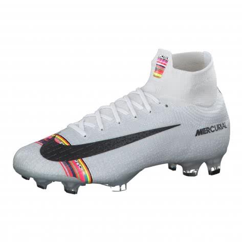 Nike Herren Fussballschuhe Mercurial Superfly VI Elite CR7 FG AJ3547-009 41 Pure Platinum/Black-White | 41