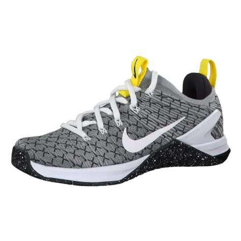 Nike Damen Trainingsschuhe Metcon DSX Flyknit 2 X AQ3565-107 42 Black/White-Dynamic Yellow | 42