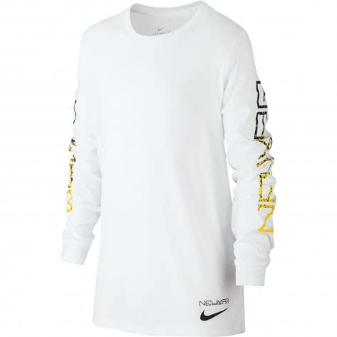 Nike Jungen Langarmshirt Neymar Dry LS Tee 924385 White Größe 128 137,147 158