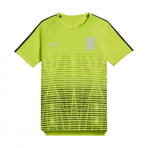 Nike Jungen Trainingsshirt Neymar Dry Squad Football Top SS 890800 Volt Black Größe 128 137,137 147,147 158,158 170