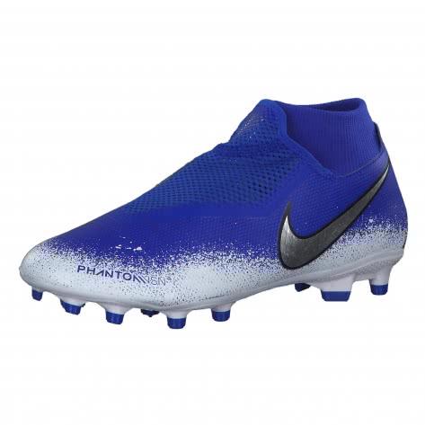 Nike Herren Fussballschuhe Phantom Vision Academy DF FG/MG AO3258-410 44.5 Racer Blue/Chrome-White | 44.5