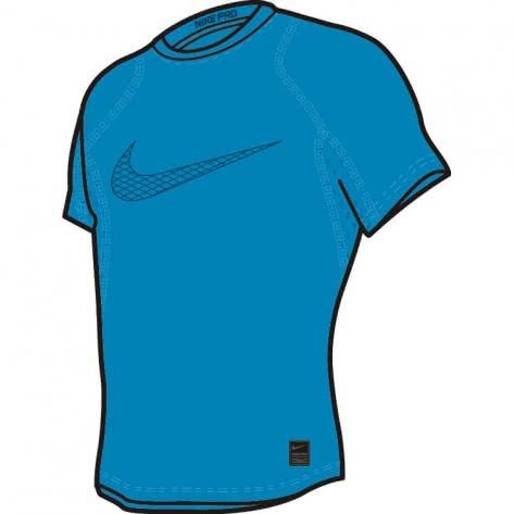Nike Jungen Funktionsshirt Pro Top SS Compression 858233 Equator Blue Blue Force Größe 122 128,128 137,158 170