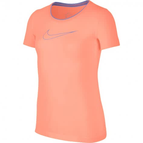 Nike Mädchen Trainingsshirt Pro Top SS 890230 Crimson Pulse Crimson Pulse Royal Pulse Größe 122 128,128 137,137 146,146 156,156 166
