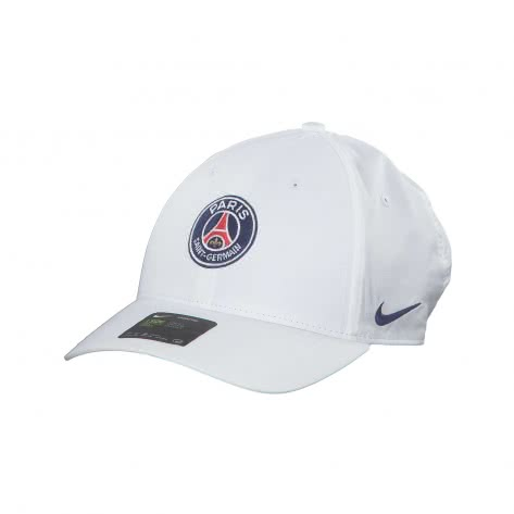 Nike Unisex Paris Saint-Germain Kappe Legacy91 Cap ADJ BV6425-100 White/Blue Void | One size