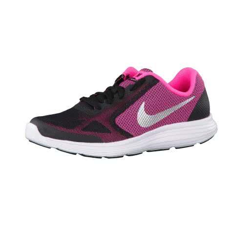 Nike Kinder Laufschuhe Revolution 3 (GS) 819416 Black Mtllc Slvr Hypr Pnk Wht Größe 36.5,38