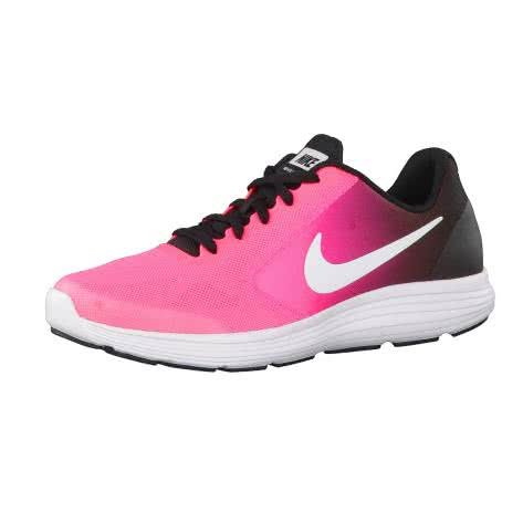 Nike Kinder Laufschuhe Revolution 3 (GS) 819416 Black White Racer Pink Black Größe 36,36.5
