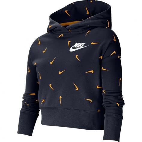 Nike Mädchen Kapuzenpullover AOP Crop Hoodie CZ2566