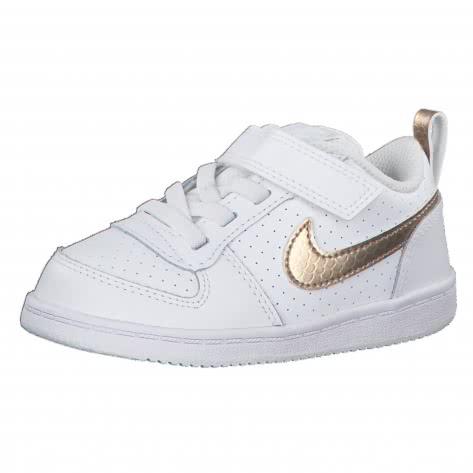Nike Mädchen Sneaker Court Borough Low EP (TDV) BV0749-100 27 White/Blur-Blur | 27