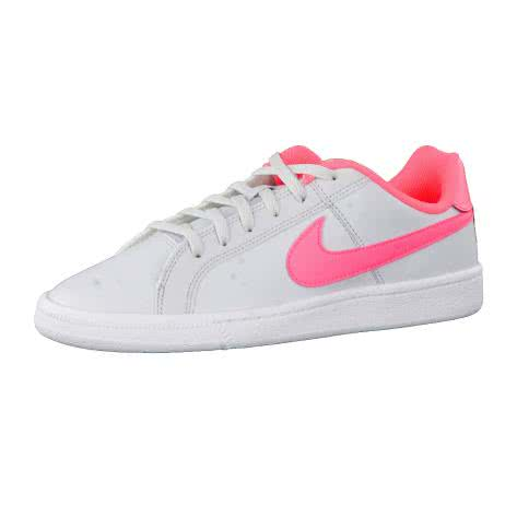 Nike Kinder Sneaker Court Royale (GS) 833654 Pure Platinum Hot Punch White Größe 35.5,36,36.5,37.5,38,38.5