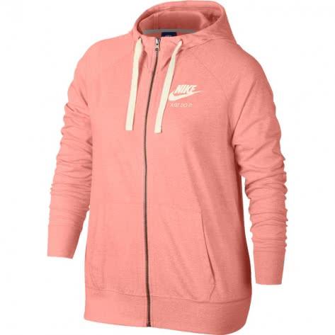 Nike Damen Sweatjacke Gym Vintage Hoodie FZ 883729-697 S Bleached Coral/Sail   S