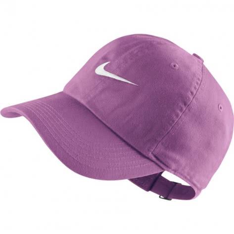 Nike Kinder Kappe H86 Cap Swoosh 546178 Rush Fuchsia White Größe One size