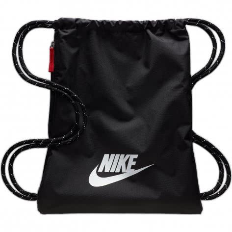 Nike Turnbeutel Heritage 2.0 Gym Sack BA5901-010 Black/Black/White | One size