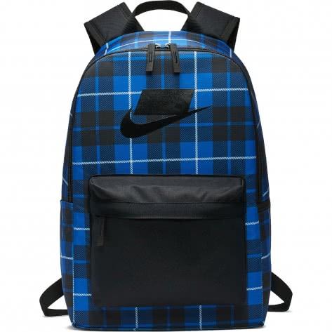 Nike Rucksack Heritage 2.0 Backpack AOP BA5880-011 Black/Game Royal/Black | One size