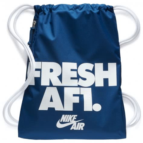 Nike Turnbeutel Heritage Gym Sack 1 - GFX BA5430-425 Coastal Blue/White/White | One size