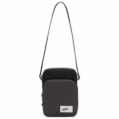 Nike Umhängetasche Heritage Smit - Label BA5809-011 Black/Black/Fuchsia | One size