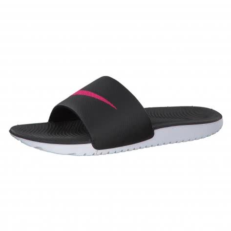 Nike Damen Badeschlappen Kawa Slide 834588-060 36.5 Black/Vivid Pink | 36.5