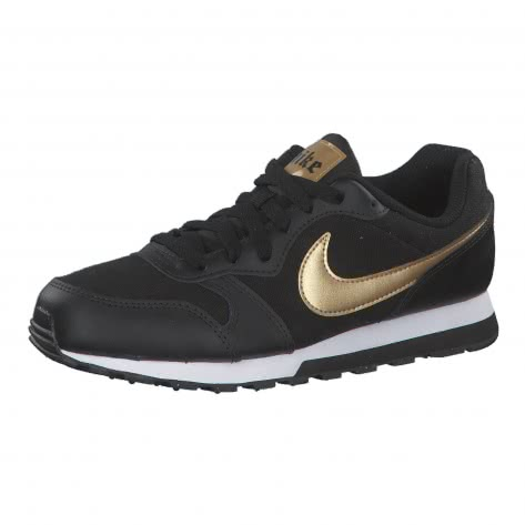 Nike Mädchen Sneaker MD Runner 2 VTB (GS) CJ6924-001 35.5 Black/Metallic Gold-White | 35.5