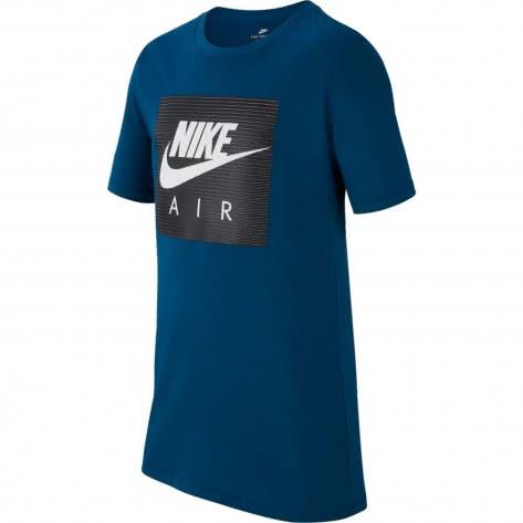 Nike Jungen T-Shirt NSW Tee Air Logo AA8761 Blue Force White Größe 128 137,137 147,147 158,158 170