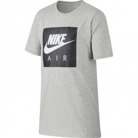 Nike Jungen T-Shirt NSW Tee Air Logo AA8761 Dk Grey Heather White Größe 128 137,137 147,158 170