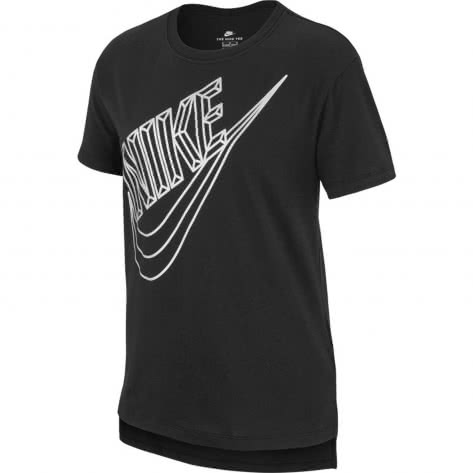 Nike Mädchen T-Shirt NSW Tee Faceted Futura AA8935-010 137-147 Black | 137-147