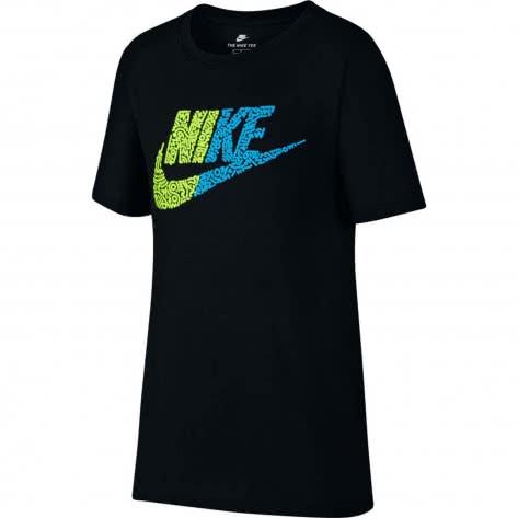 Nike Jungen T-Shirt NSW Tee Half Futura 923669 Black Volt Größe 122 128,128 137,137 147,147 158,158 170
