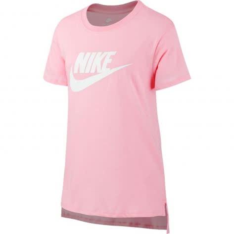 Nike Mädchen T-Shirt NSW Tee Hilo Futura 2 AR1739 Pink White Größe 128 137,137 147,147 158,158 170