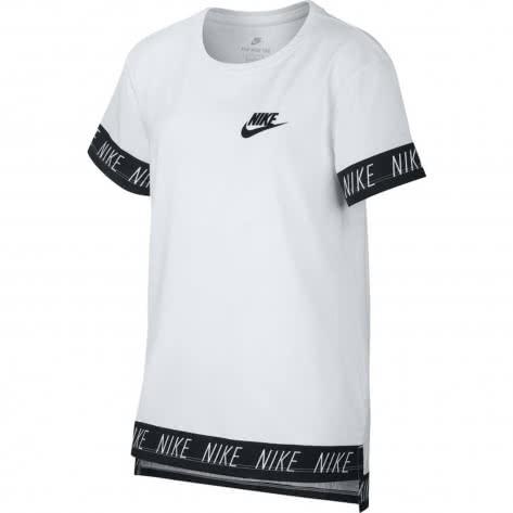 Nike Mädchen T-Shirt NSW Tee Hilo Nike Tape 923632 White Größe 122 128,128 137,137 147,147 158