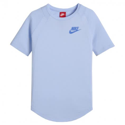 Nike Mädchen T-Shirt Top SS 890553 Royal Tint Lt Racer Blue Größe 122 128,128 137,137 146,146 156,156 166