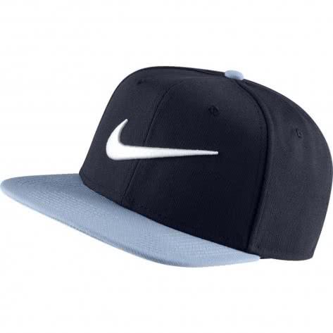 Nike Kappe Swoosh Pro Hat 639534-453 Obsidian/White/Indigo Fog | One size