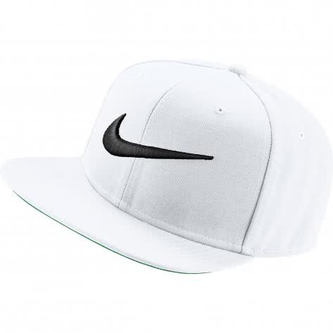 Nike Kappe Swoosh Pro Hat 639534-100 White/Pine Green/Black/Black | One size
