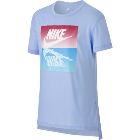 Nike Mädchen T-Shirt Sunset Futura Tee 913188 Royal Tint Wild Cherry Größe 122 128,128 137,137 146,146 156,156 166