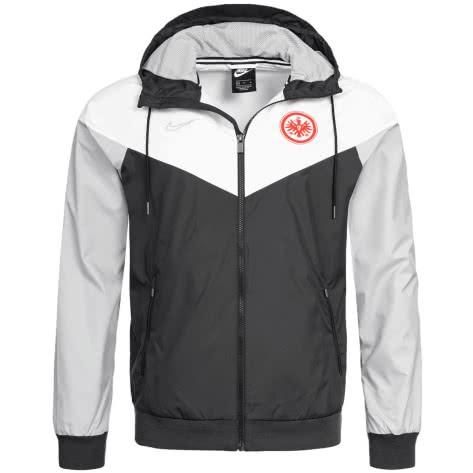 Nike Herren Eintracht Frankfurt Windrunner Woven AUT X BQ8157-010 XS Black/White/Wolf Grey/Wolf Grey   XS