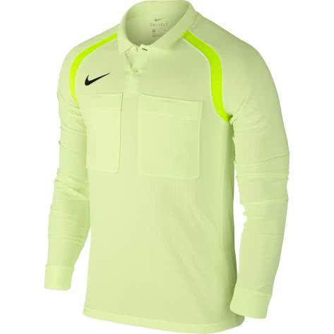Nike Herren Schiedsrichter Langarm Trikot Team Referee Jersey 807704 Barely Volt/Volt/(Black) Größe: L,XL