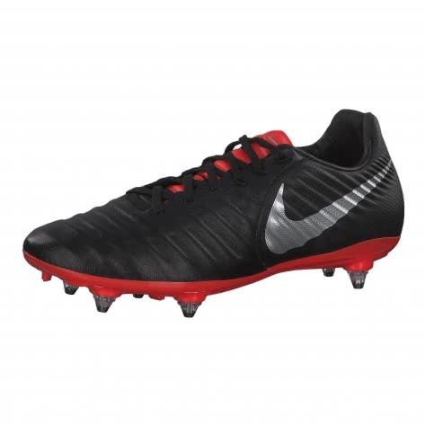 Nike Herren Fussballschuhe Tiempo Legend VII Pro SG AQ0429-006 41 Black/Metalic Silver-Lt Crimson | 41