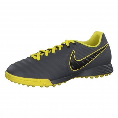 Nike Herren Fussballschuhe Tiempo LegendX VII Academy TF AH7243-070 39 Dark Grey/Black-Opti Yellow | 39