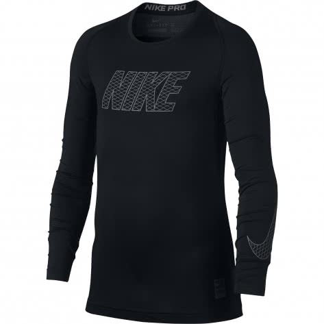 Nike Jungen Funktionsshirt Top Compression Crew Long Sleeve 858232