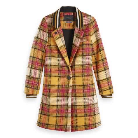 Maison Scotch Damen Mantel Bonded Checked Coat 152692
