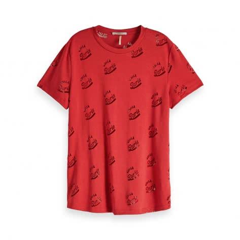 Maison Scotch Damen T-Shirt Burnout Short Sleeve Tee 153047